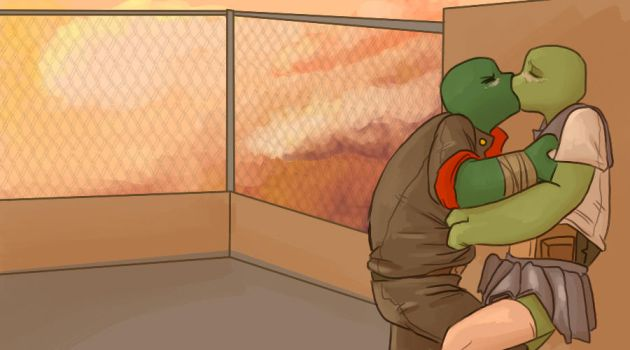 tcest - Raph/Leo by ZephPirate
