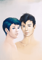 Brothers Ciprian and Xander by trowicia