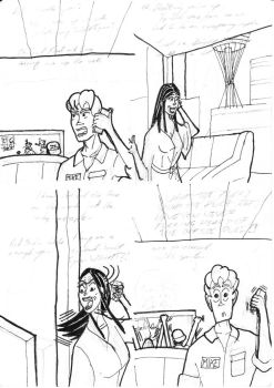 Pencils and Inks for The Offside Rule by ByRobF