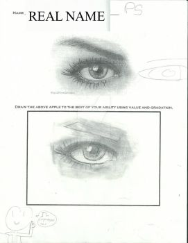 cool eye picture practice by iiComic