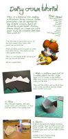Princess Daisy crown tutorial by kolibri-chan