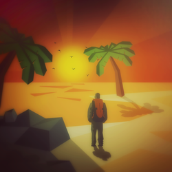 The backpacker - Sunset by Bradwave