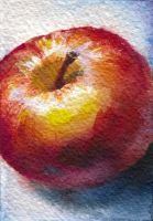 Apple. ACEO by OlgaSternik