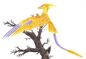 a phoenix archaeopteryx by chaosia