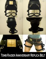 Tomb Raider Anniversary Gun Belt Replica by pbbunnybear