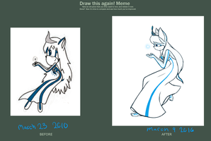Draw it again! [6 year diffrence] by SlyCatDesigns