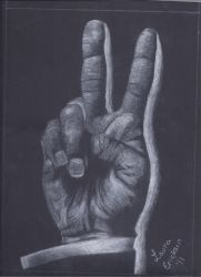 Charcoal Peace Sign by Perreh