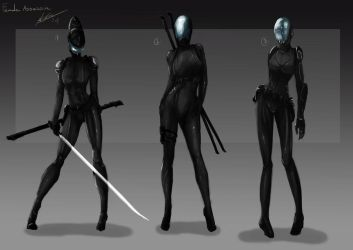 Female Assassin 1st stage by Tr1gg3r117