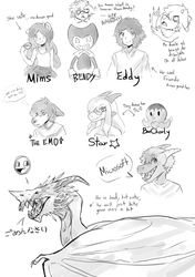 Sketches from the stream by LunaruXZ