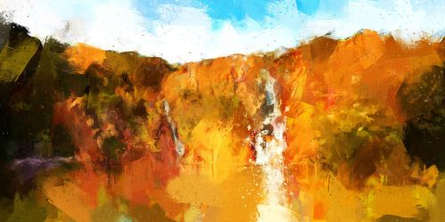 Wangi Falls II by Cr8ivDigitalPainting