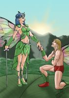 Fairy Queen and suiter by SteveNoble197