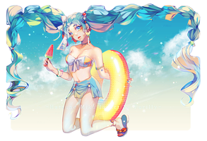 Summer Miku by Purikyu