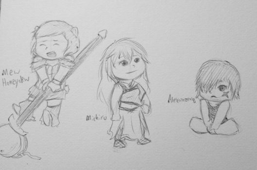 Sketch request bunch by Booboo-kitty-cat