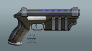 Ironswift Tales - Magitech Pistol (Commission) by BurgerForLunsh