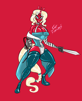 Sketch on the Spot - Scarlet Belmont by grayscalerain