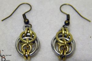 Brass Knot Earrings Detail by ChainedBeauty