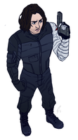 bucky barnes by CaiitKat