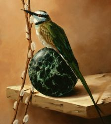 The Bee Eater - Detail by LindaRHerzog