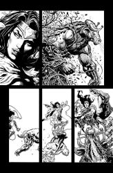 Wonder Woman pencils and inks by LiamSharp