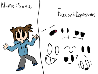 Sonic (persona) concept art by Sonic032407