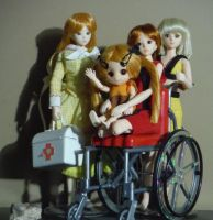 Paradolls of Gold, Copper, Kalua and Carrie by SailorEnergy