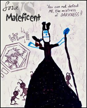 Sora VS Maleficent by Rucci