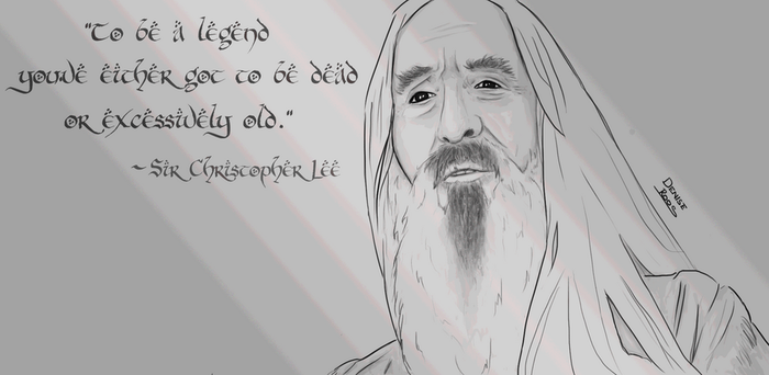 Sir Christopher Lee by DementedPirate