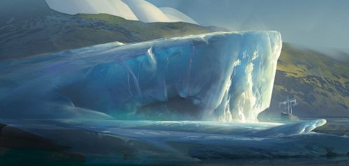 Iceberg: Digital Painting Process by jordangrimmer