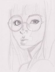 Girl in Glasses by 00ShadowGirl00