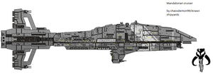 Mandalorian Cruiser by AnowiShipyards