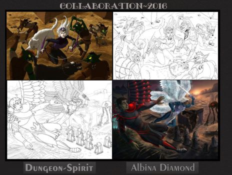 Collaboration with Dungeon-Spirit by AlbinaDiamond