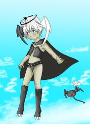 Ice Vampyre w background by Ohai-Tei-Chan