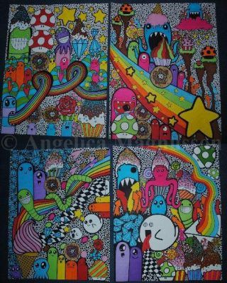 Collage 7-6-5-4 ~ Lots of colors and figures by AnkaaaaPORR