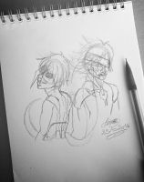 Kaneki Ken and Raiden Jack the ripper by moondaneka