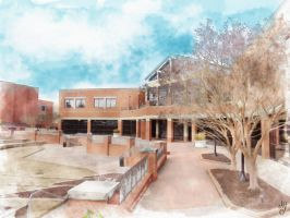 Macon State Watercolor by AvictoriaY