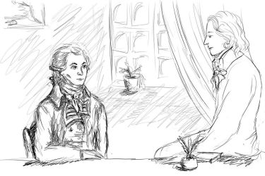 Robespierre and Saint-Just by TessaNoel