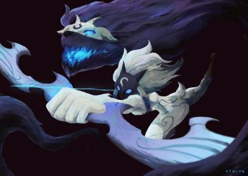Kindred from League of Legends by Atnitx