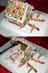 Deconstructed Gingerbread House by Kosmic-Stardust