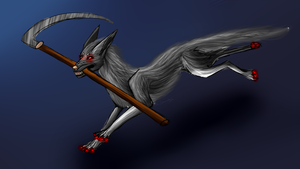 [Commission]Wolf with scythe by Noxsha