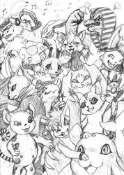 Digimon Coded Digimon OC Scetch by Megaloceros-Urhirsch