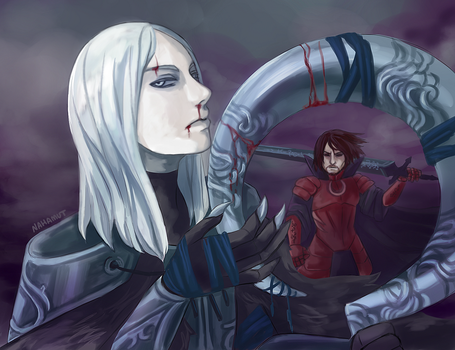. The hunter and the demon . by Nahamut