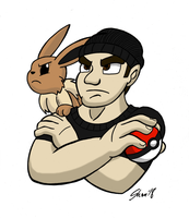 My brother, the Eevee trainer by Sea-Salt