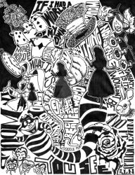 Alice in Wonderland, in doodle format by indoodleformat