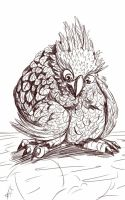 Daily Sketch: Bad Feather Day by Hunchy