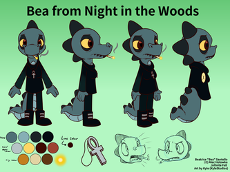 Bea from Night in the Woods Reference Sheet by KyleStudios