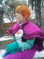 Snow day - Male Anna Cosplay by NipahCos