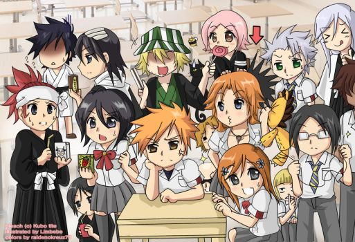 Bleach Chibis by raidenokreuz76