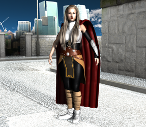 Thor (Jane Foster) G3F Rigging Test by OrionPax09