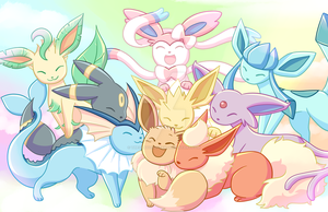 Eeveelutions by TheCrayonQueen