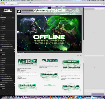 Twitch Channel Layout for Westrice by ciael